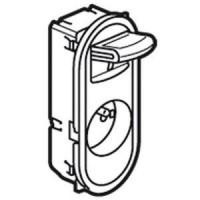Prise de courant Céliane - 16A - 250V - 2P+T - manipulation facile - enjoliveur blanc