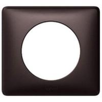 Plaque Céliane - anodisé - 1 poste - graphite