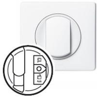 Enjoliveur Céliane - prise simple pour réseau Optimum - blanc