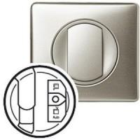 Enjoliveur Céliane - prise simple pour réseau Optimum - titane
