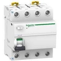 Interrupteur différentiel 40A  Acti9, iID - 4P - 300mA - type AC