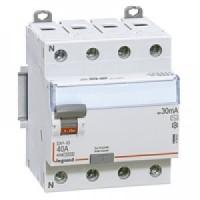 Interrupteur différentiel 40A vis/vis - 4p- 400v~ - type AC - 30ma - départ bas - dx³-id