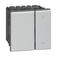 Ecovariateur universel pour lampes éco 2 fils Programme Mosaic - Aluminium