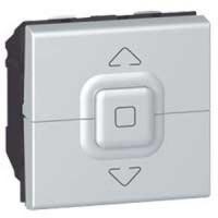 Interrupteur pour volets roulants Programme Mosaic - 2 modules - Aluminium
