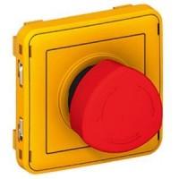 Poussoir déverrouillage 1/4 tour Programme Plexo composable -  Rouge/Jaune