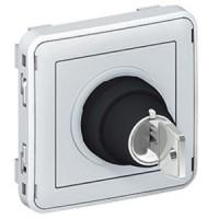 Interrupteur à clé - 3A - 250 V Ronis n° 455 Programme Plexo composable - 3 positions - Gris