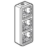 Boîtier à embouts Programme Plexo composable - 3 postes verticaux - Gris