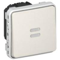 Interrupteur temporisé lumineux Programme Plexo composable - 230V - 50/60Hz - Blanc