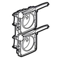 Prise 16A - 2x2P+T - Vertical précâblées - Programme Plexo composable - 250 V - Blanc