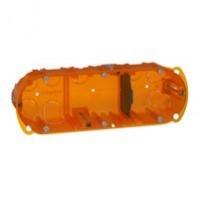 Boîte multimatériaux Batibox - 3 postes - 6/8 modules - Verticale/Horizontale - Profondeur 50